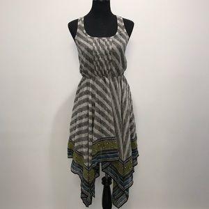"UO ""ecote"" Printed Hanky Chiffon Dress"